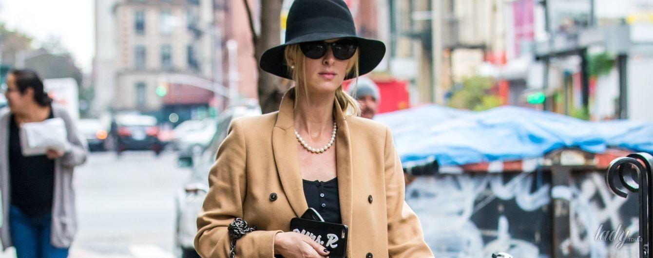 Беременная и стильная: Ники Хилтон на прогулке в Нью-Йорке