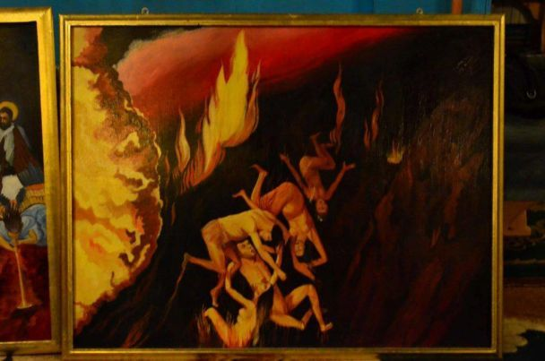 Вукраинском храме обнаружили икону сголым Ющенко ваду