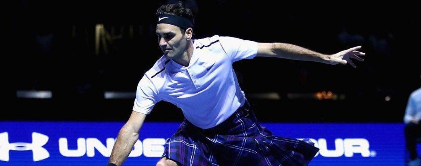 Звездный теннисист Федерер нарядился в килт и победил Маррея в благотворительном матче