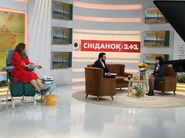 "Ведущая программы ""Сніданок з 1+1"" Неля Шовкопляс стала донором крови во время прямого эфира"