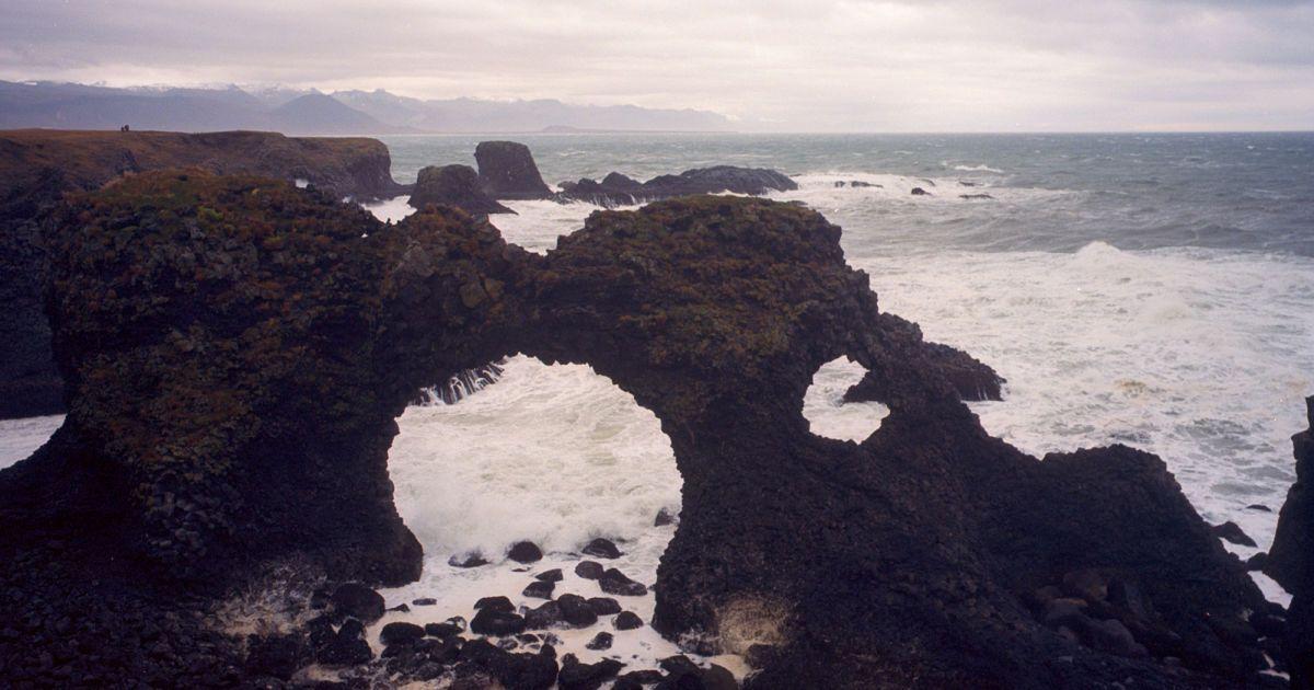 """""""Дірява скеля"""" - Gatklettur - на заході Ісландії"""