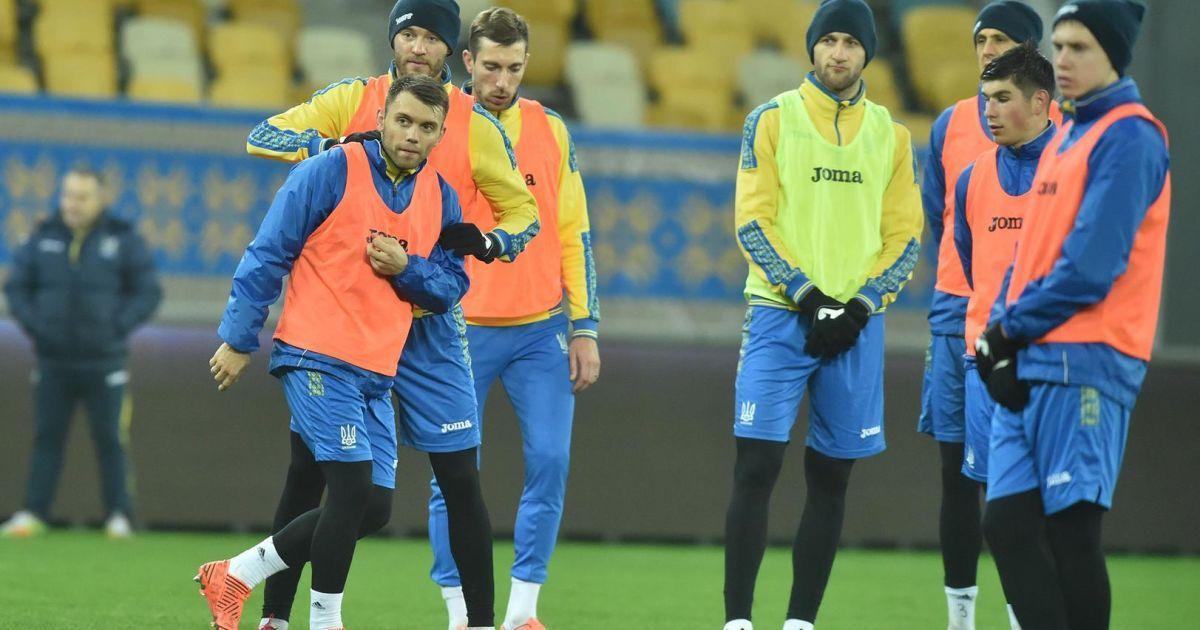 Тренировка сборной Украины накануне матча со Словакией @ ФФУ