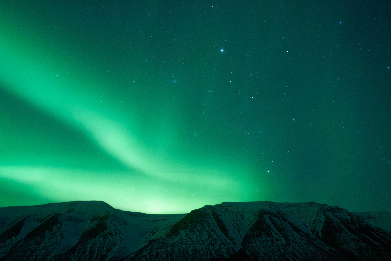 Північне сяйво, Ісландія