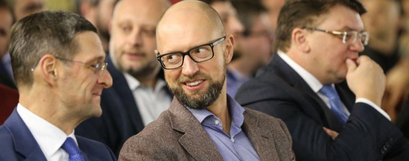 """""""Нам есть что сказать"""". Яценюк объявил о походе """"Народного фронта"""" на выборы"""