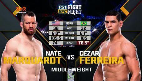 UFC. Цезарь Феререйра - Нейт Нейтмакьюардт. Видео боя