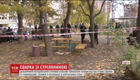 В Одессе участковый получил пулю в голову от кума