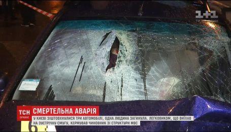 В столице произошло смертельное ДТП с участием трех авто