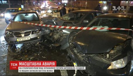 Беременная женщина пострадала в ДТП в Киеве