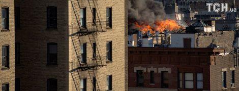 В нью-йоркском Гарлеме произошел крупный пожар