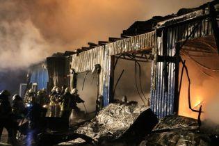 В Киеве ночью горели складские помещения с красками