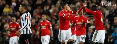 """""""Манчестер Юнайтед"""" розгромив """"Ньюкасл"""" та продовжив гонитву за лідером чемпіонату"""