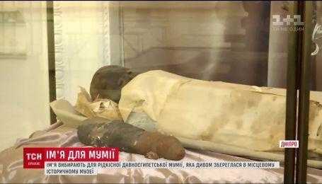 Имя для древнеегипетской мумии выбирают в Днепре