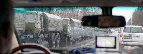 Грузовик, зенитка, БТРы: в ОБСЕ показали военную колонну, которая вошла в оккупированный Луганск