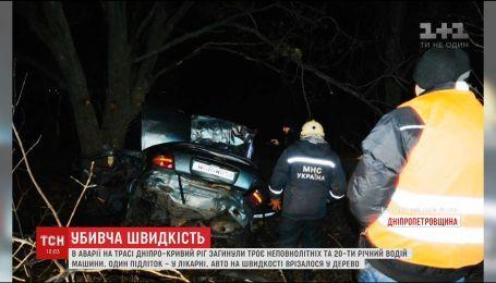 Трое подростков и 20-летний водитель погибли в ужасной аварии недалеко от Днепра