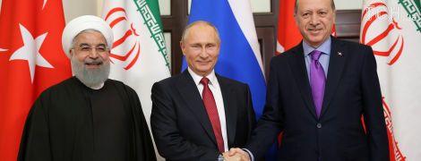 Путин в Сочи договорился с Эрдоганом и Роухани о будущем Сирии