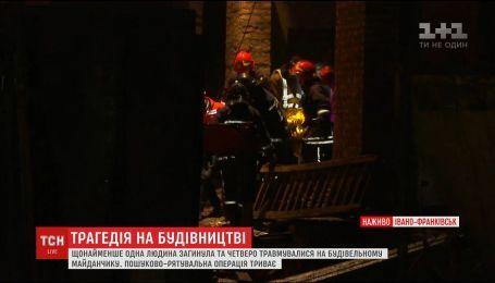 На будівельному майданчику в Івано-Франківську стався обвал, одна людина загинула