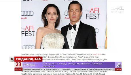 Бред Пітт готовий віддати половину капіталу Анджеліні Джолі за право виховувати дітей
