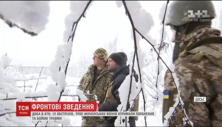 Из штаба АТО сообщают об обильных обстрелах на Луганском направлении