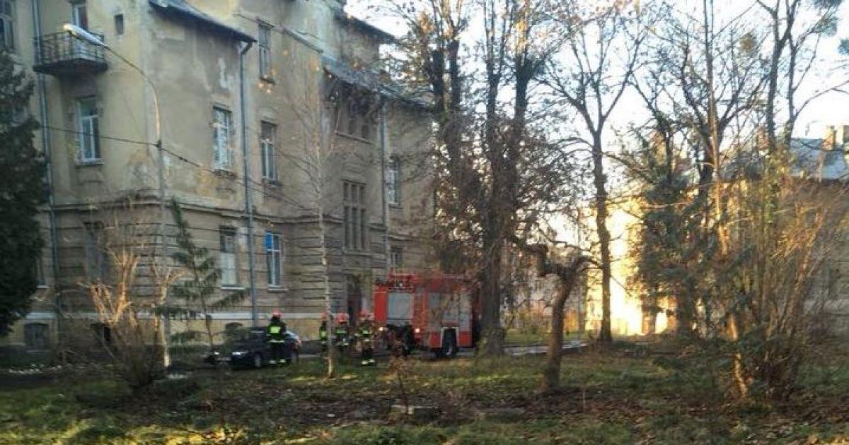 Во Львове на улице Кульпарковской произошел пожар на территории  психиатрической больницы. Об этом сообщил на своей странице в Facebook  депутат Львовского ... 10f29b66feb4b