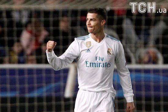 Роналду визнано найкращим гравцем тижня Ліги чемпіонів