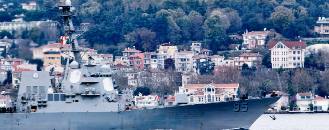 К Одессе приближается американский ракетный эсминец