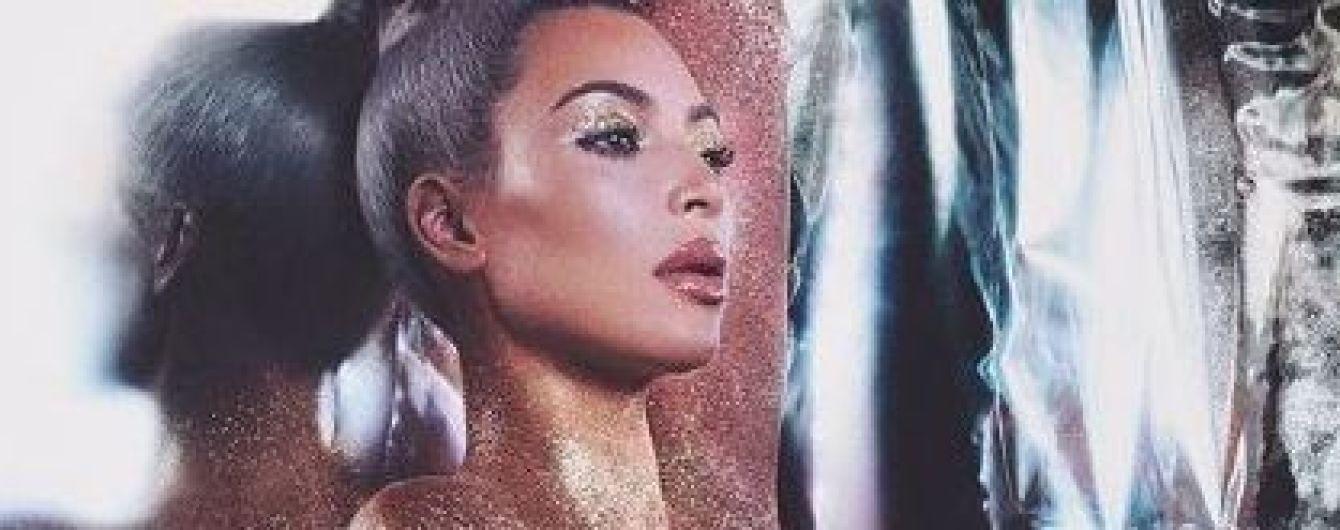 Обнаженная и покрытая блестками: Ким Кардашьян привлекла внимание поклонников пикантным кадром