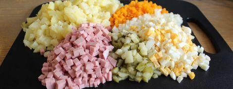 За рік інгредієнти на культовий салат олів'є здорожчали на чверть. Інфографіка