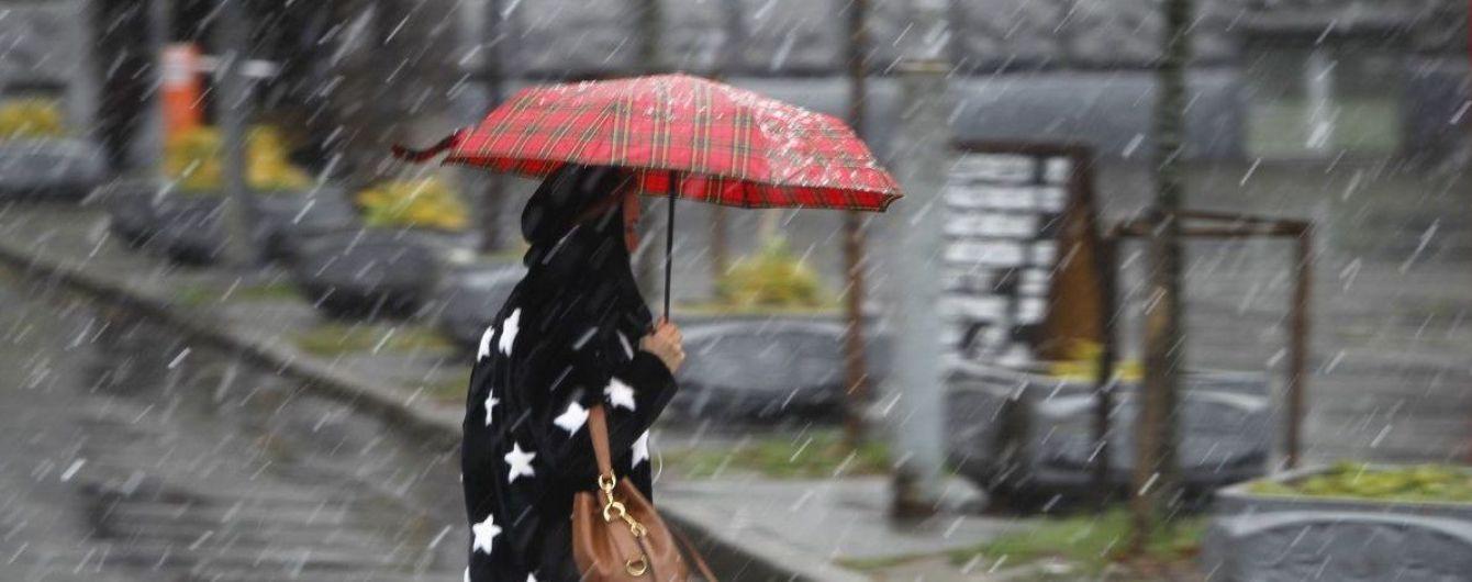 В Україні похолодає та йтимуть дощі з мокрим снігом. Прогноз погоди на 29 листопада