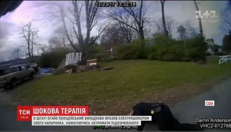 В США полицейский случайно поразил электрошокером своего напарника