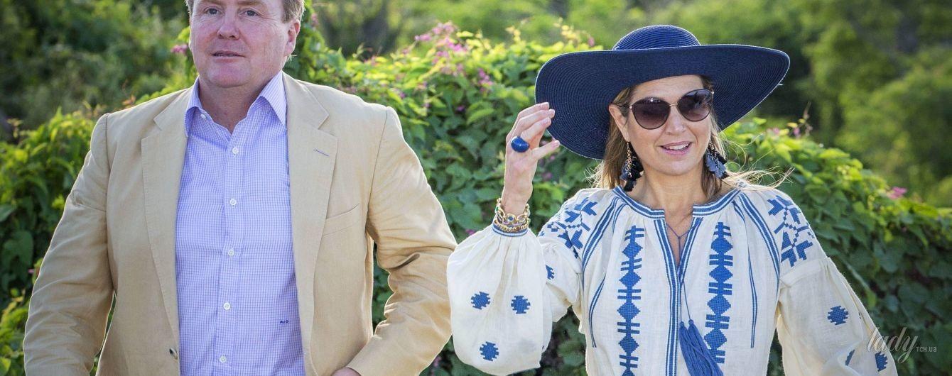 Любимая вышиванка королевы: Максима носит платье от украинского дизайнера