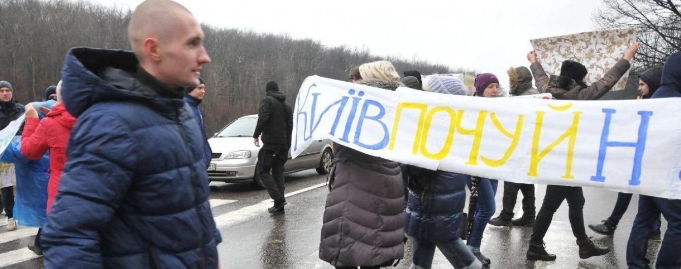 Под Харьковом местные жители перекрывали трассу, протестуя из-за отсутствия теплоснабжения