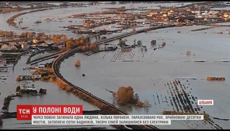 Масштабное наводнение парализовало Албанию