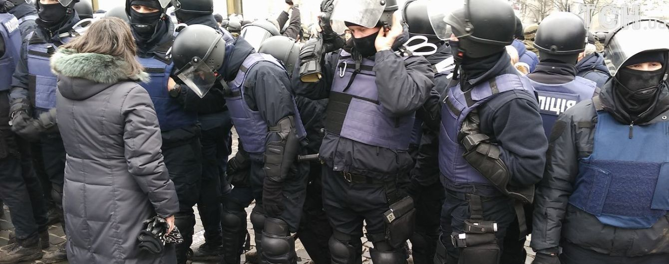 Колонна во главе с Саакашвили подошла к Раде