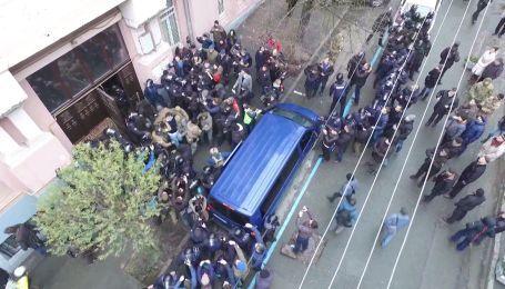 Задержание Саакашвили в Киеве. Видео с дрона