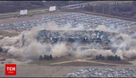 Дубль два: стадион в американском штате Мичиган наконец взорвали
