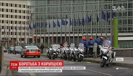 Євросоюз розкритикував Україну за конфлікт з Національним антикорупційним бюро
