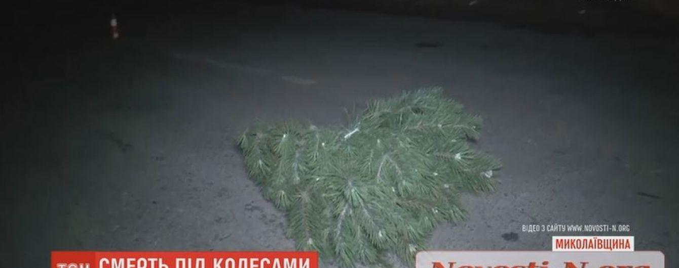 Під Миколаєвом машина на смерть збила жінку, яка тікала з вкраденою ялинкою