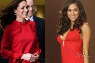Короткое красное платье: битва образов герцогини Кембриджской и Меган Маркл