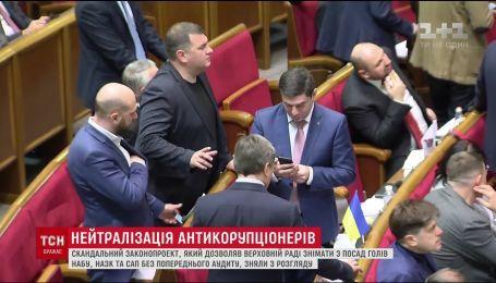 В ВР проголосовала за отстранение от должности Егора Соболева
