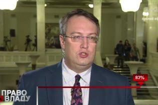 Геращенко поздравил всех с новым бюджетом