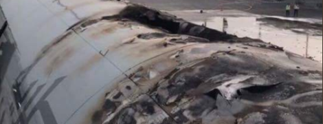 В аэропорту Катара горел пассажирский самолет