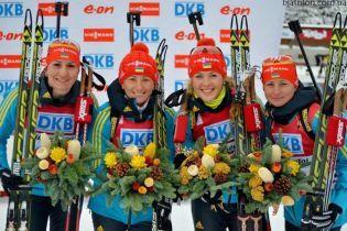 Жіноча збірна України з біатлону здобула срібло в естафеті на другому етапі Кубка світу