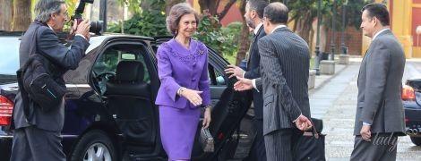 Они задают тренд: как королевы Елизавета II, Сильвия и София носят фиолетовые наряды