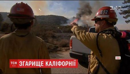 Пожарные не способны справиться с огнем, который распространяется югом штата Калифорния