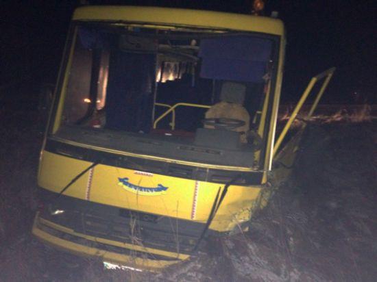 На Житомирщині BMW вилетів на зустрічну смугу і протаранив шкільний автобус, постраждали діти