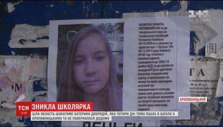 Волонтери долучились до пошуків дівчинки, яка загадково зникла в Кропивницькому