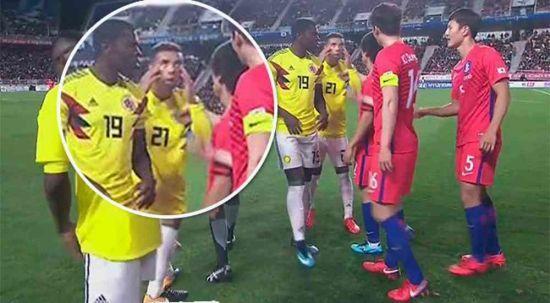 Колумбійський футболіст отримав покарання за знущання над корейцями