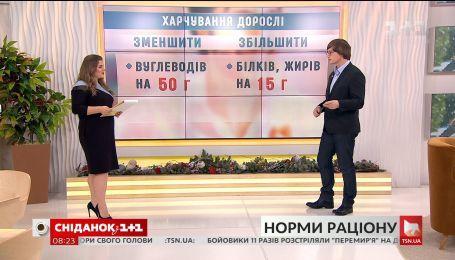 Дієтолог Олександр Кущ прокоментував нові норми раціону МОЗ