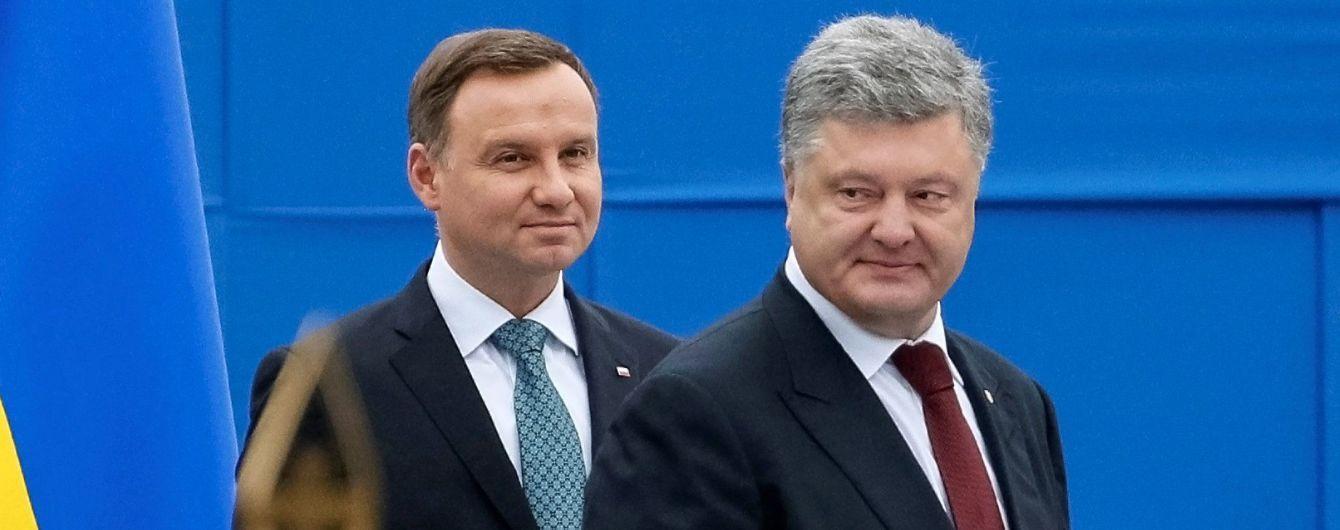 Порошенко поговорил с Дудой: украинско-польский кризис начнут рассматривать на следующей неделе в Кракове
