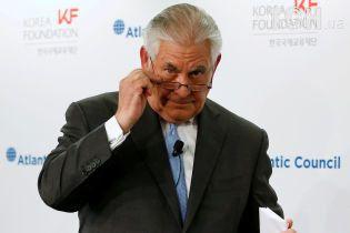 Тіллерсон закликав посилити тиск на КНДР, щоб домогтися переговорів